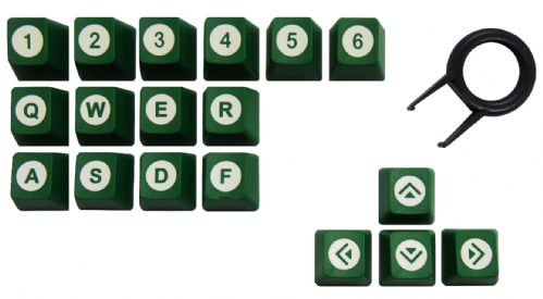 Tai-Hao ABS Double Shot 18 Key Set Green/White